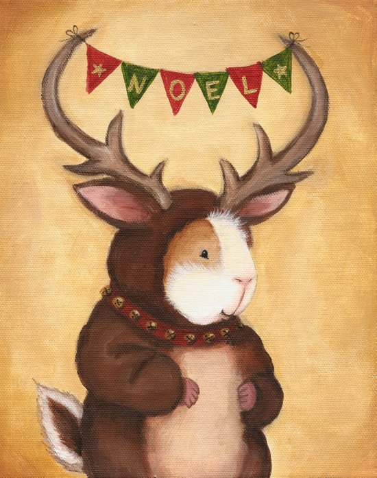 Ferdie the Reindeer Peeg Art Print