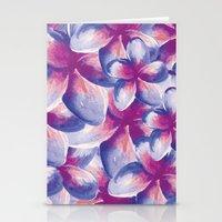 Purple Plumeria Floral W… Stationery Cards