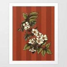 Vintage Flower (3) Art Print