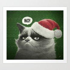 Grumpy Xmas Art Print