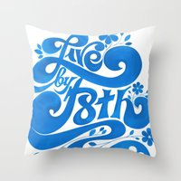 Live By F8th Script Throw Pillow