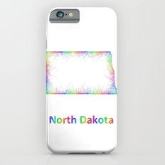 Rainbow North Dakota map Slim Case iPhone 6s