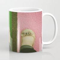 Vintage Pink & Green Mug