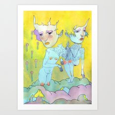 FROM BELOW Art Print