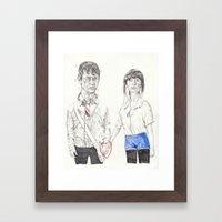 Tom and Summer Framed Art Print