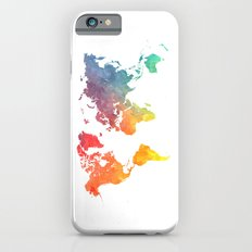 Map of the world colored iPhone 6s Slim Case