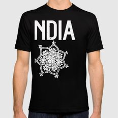 INDIA Black SMALL Mens Fitted Tee