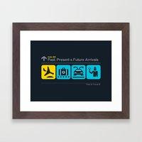 Time To Travel Framed Art Print