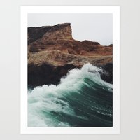sea Art Prints featuring Montaña Wave by Kevin Russ