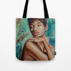 Colorful Whispers of Introspection Tote Bag