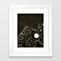 I was enraged when it said the world was ending Framed Art Print