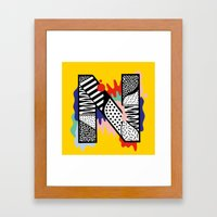 N for ... Framed Art Print