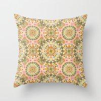 Pink Carousel Mandalas Throw Pillow