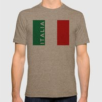italy italian country flag italia name text Mens Fitted Tee Tri-Coffee SMALL