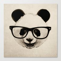 Panda Head Too Canvas Print