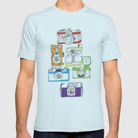 Colorful Cameras Mens Fitted Tee Light Blue SMALL