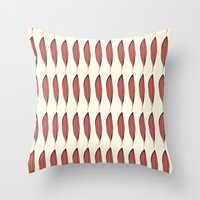 Vintage Feather  Throw Pillow