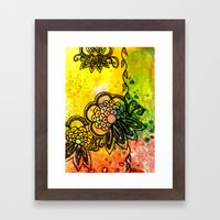 Henna Fantasia Exotic Framed Art Print