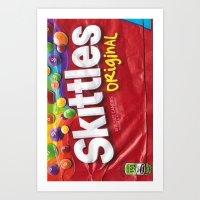 Skittles Art Print