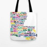Louisiana Typography Tote Bag