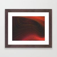 Layers Red Framed Art Print