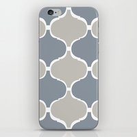 MARRAKECH PATTERN GreyBlue iPhone & iPod Skin