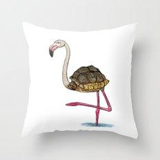 Flamingoise Throw Pillow