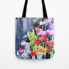 Liberté Floral Watercolor Tote Bag