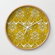 saffreya ochre Wall Clock