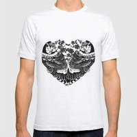 love birds  Mens Fitted Tee Ash Grey SMALL