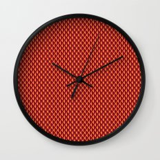 Dragon Scales Pattern - Red Wall Clock
