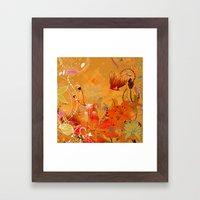 Boho Floral Pattern Framed Art Print