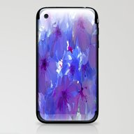 Blue Cherry Blossoms iPhone & iPod Skin
