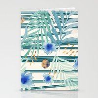 SUMMERTIME STRIPES Stationery Cards