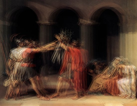Glitch of the Horatii Art Print