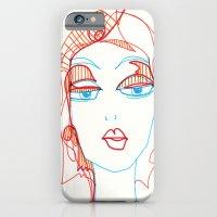 girl sketch iPhone 6 Slim Case