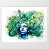 Peacock- Metamorphosis Art Print
