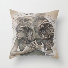 One Screaming Monkey at a Time Throw Pillow