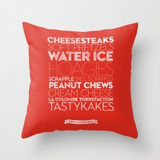Philadelphia — Delicious City Prints Throw Pillow