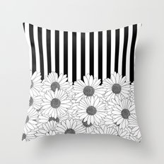 Daisy Stripe Throw Pillow
