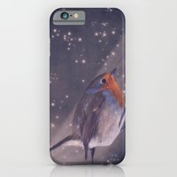 iPhone & iPod Case featuring The little robin at the night by Angela Dölling, AD DESIGN Photo + Photo