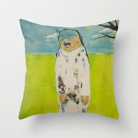 eror, teror, happiness Throw Pillow