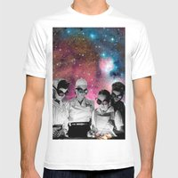 Space cooks Mens Fitted Tee White SMALL