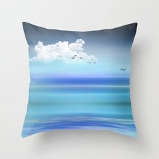 BLUE WATERS Throw Pillow