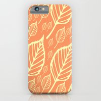 Orange Autumn Leaf Design  iPhone 6 Slim Case