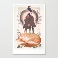 Fable Of Mulder And Scul… Canvas Print