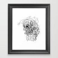 Clown. Framed Art Print