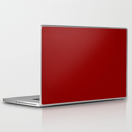 Dark red Laptop & iPad Skin