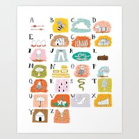 Illustrated ABC's Art Print