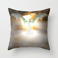 Angelic Maiden Throw Pillow